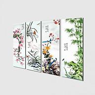 Tranh treo Tường Tứ quý TQ907624- Tranh treo tường đẹp thumbnail