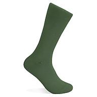 Tất vớ nam dài cao cấp cotton supima đơn sắc trơn xanh oliu thumbnail