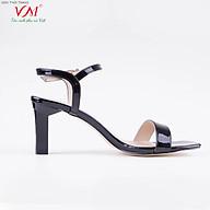 Sandal cao gót nữ, chiều cao gót 7CM, da Tổng hợp bóng, êm ái, bền chắc và thời trang. Mũi Vuông, gót Vuông, sang trọng và chắc chắn, thiết kế hiện đại, tinh tế, thời trang SD.MT01.7F thumbnail
