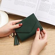 Ví nữ mini cao cấp ngắn cute nhỏ gọn bỏ túi thời trang giá rẻ VMN001 - Xanh rêu thumbnail