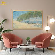Bên bờ sông Seine- Van Gogh - Tranh in canvas trang trí treo tường. thumbnail
