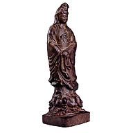 Tượng gỗ tẩm trầm hương Mẹ Quan Âm hộ mệnh thumbnail