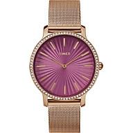 Đồng Hồ Nữ Dây Kim Loại Timex Metropolitan TW2R50500 (34mm) - Mặt Hồng thumbnail