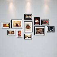 Bộ Khung Hình Treo Tường Trang Trí Quán Cafe (Cà Phê) Đẹp Và Chất Tặng Kèm bộ ảnh như hình mẫu, đinh treo tranh và sơ đồ treo - PGC255 thumbnail