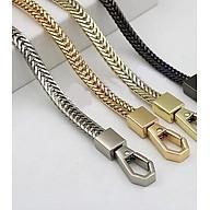 quai đeo túi xách dạng dây da và xích kim loại dài 110cm thumbnail