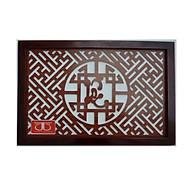 Tấm chống ám khói hương bàn thờ mẫu không chữ Lộc nét Chữ Thư pháp khung mầu nâu -TL304 thumbnail