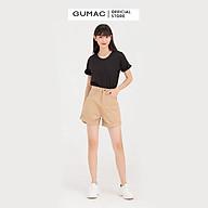 Áo thun nữ GUMAC ATB788 cổ tròn tay lật thumbnail