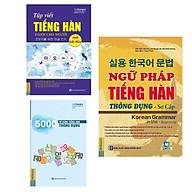 Combo 3 Cuốn Sách Học Tiếng Hàn Ngữ Pháp Tiếng Hàn Thông Dụng - Sơ Cấp (Dùng APP MCBooks) + 5000 Từ Vựng Tiếng Hàn Thông Dụng + Tập Viết Tiếng Hàn Dành Cho Người Mới Bắt Đầu Tặng Kèm Bookmark Happy Life thumbnail