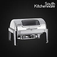 Nô i hâm buffet chữ nhật chân inox (nắp PC) KS61363-2 thumbnail