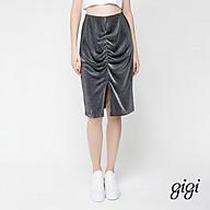 GIGI - Chân váy midi bút chì Ruched Split G3301202525H-87 thumbnail