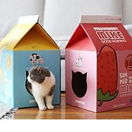 Nhà mèo cào hình hộp sữa (giao màu ngẫu nhiên) thumbnail