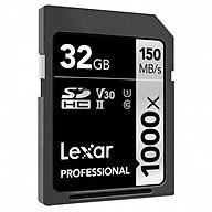 Thẻ Nhớ Lexar SDXC Lexar Professional 1000x 32GB UHS-II 150MB s - Hàng Chính Hãng thumbnail