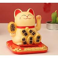 Mèo may mắn vẫy tay năng lượng mặt trời thỏi vàng may mắn(Vàng) thumbnail
