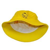 Mũ tai bèo bucket con vịt màu vàng Hạnh Dương thêu độc đáo, dễ thương, vành rộng chống nắng tốt, chất liệu vải mềm mại - Vàng thumbnail