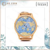 Đồng Hồ Nữ Thời Trang Bồ Đào Nha Unisex - HGcork U8V Dây Đeo Bằng Da Thực Vật (Cork Lie) Màu Vàng Tự Nhiên thumbnail
