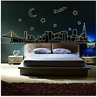 Decal dán tường Dạ quang thành phố đêm AmyShop DDQ003 (70 x 200 cm) thumbnail