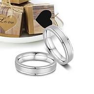 Nhẫn đôi sọc trơn 2 bên biểu tượng tình yêu thumbnail