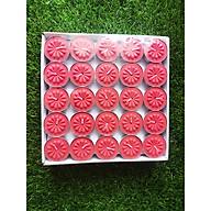 Nến tealight 100 viên màu đỏ không mùi dày 1.1cm cháy từ 2h-2h30 Bio Aroma thumbnail
