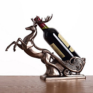 Tượng hươu đựng rượu màu đồng thumbnail