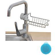 Khay Để Đồ Rửa Chén Cạnh Vòi Rửa Chất Liệu Inox 304 Chắc Chắn + TẶNG KÈM Miếng Rửa Bát Silicon Tiện Dụng thumbnail