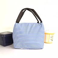 Túi giữ nhiệt đựng hợp cơm văn phòng KeepFood phong cách Nhật Bản - VN201 - Xanh sọc kẻ thumbnail