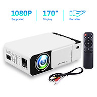 Mini Home Theater Projector 1080P Supported 170 Inch Display Built-in Speaker with HD AV USB VGA Interface Portable thumbnail