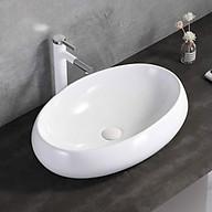 chậu lavabo để bàn chậu rửa để bàn đá chiếc lá loại kiểu tô để bàn sang trọng hiện đại dễ sử dụng chuyên cho công trình nhà ở khách sạn homestay biệt thự villa thumbnail