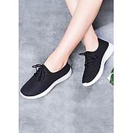 Giày nữ thể thao nữ thời trang đế cao su - Đen thumbnail