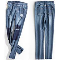 Quần Bò, Quần Jeans Nữ Baggy Rách Lưng Cao Ulzzang Tua Rua Chân thumbnail