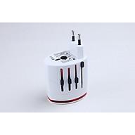 Ổ cắm điện du lịch đa năng D996 (tặng kèm 02 nút kẹp giữ dây điện) thumbnail
