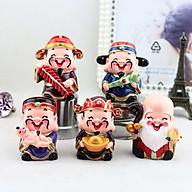 Bộ tượng 5 ông Thần Tài, Phúc, Lộc, Thọ may mắn vui tươi ngộ nghĩnh thumbnail