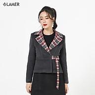 Áo dạ cổ K, khoen đai LAMER L65W20T008 thumbnail