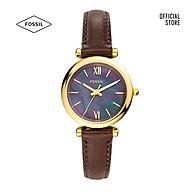 Đồng hồ nữ Fossil Carlie Mini Three-Hand Dark Brown dây da ES4968 - màu nâu thumbnail