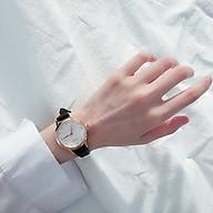 ) Đồng hồ thời trang nữ dây da mặt tròn siêu đẹp SC4199 thumbnail