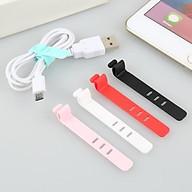 Combo 4 dây quấn thu gọn tai nghe,cáp sạc, dây cột dây điện silicone an toàn tiện ích - giao màu ngẫu nhiên thumbnail