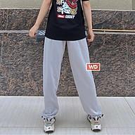 Quần nữ jogger nữ bo gấu, dây rút WADO trơn basic pant dáng suông chất poly cao cấp thumbnail