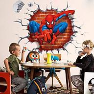 Decal dán tường người nhện 3D thumbnail