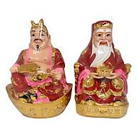 Tượng Thổ Địa Và Thần Tài Đỏ PT0060 (7inch) thumbnail