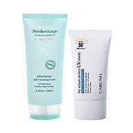 Combo Kem Chống Nắng Carenel No Sebum Perfect UV Shield SPF50 PA++++ và sữa rửa mặt Care nel White Renew Soft Cleansing Foam thumbnail