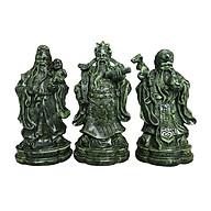 Tượng Đá Tam Đa Phúc Lộc Thọ - Cao 20cm - Màu Xanh Lục Bích thumbnail