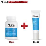 Viên uống Murad Pure Skin Clarifying Dietary Supplement 120 viên Tặng Outsmart Acne Clarifying Treatment 50ml thumbnail