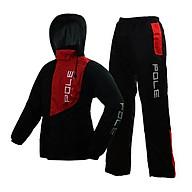 Áo mưa 2 lớp cao cấp Pole racing - Đen phối đỏ - Size XL 76-84kg thumbnail