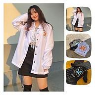 Áo Khoác Dù Chống NắngCặp Đôi Cho Nữ Cho Nam cúc gài Unisex Form Rộng Có 2 Màu Jacket Ulzzang ( ảnh Thật ) thumbnail