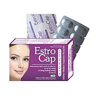Thực phẩm bảo vệ sức khỏe EstroCap hộp 30 viên- Giúp bổ huyết, điều kinh, giúp cải thiện chức năng sinh lý nữ và cải thiện chứng khó chịu cho phụ nữ tuổi tiền mãn kinh (bốc hỏa, đau đầu, mất ngủ, khó ngủ). thumbnail