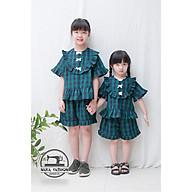 Bộ đồ kẻ caro mặc nhà cho bé gái - Hàng thiết kế thumbnail