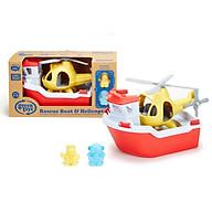 Bộ đồ chơi tàu cứu hộ và trực thăng Green Toys cho bé từ 2-6 tuổi thumbnail