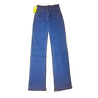Quần jean nữ ống suông rộng dài lưng cao vải mềm co giãn đôi chân nhỏ thumbnail