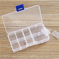[COMBO 3 HỘP] Hộp đựng đồ trang sức bằng nhựa chia 10 ngăn tiện dụng thumbnail