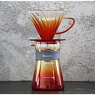 Bộ phễu V60 pha cà phê pour over thủy tinh Brewista Tornado Dripper & Server - Màu cam thumbnail