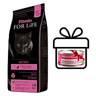Thức Ăn Bổ Sung Thịt Tươi Cho Tất Cả Các Giống Mèo Dưới 12 Tháng Tuổi, Đang Mang Thai Và Cho Con Bú Fitmin Cat For Life Kitten 1.8KG - TẶNG 1 Lon Pate Tươi Hello Cat Pate 190G thumbnail